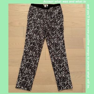 H&M Black & White Casual Office Pants Size 6